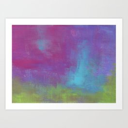 Random Abstract in Purple Blue and Green Art Print