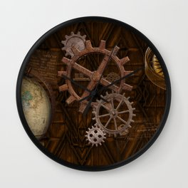 Comforts of Steampunk Wall Clock