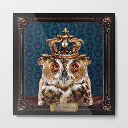 The Curiosity Shop Owl King Metal Print