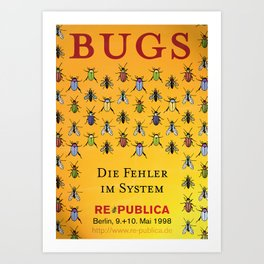 re:trospektive 1998: Bugs - die Fehler im System Art Print