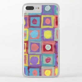 Circles and Squares Clear iPhone Case
