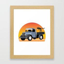 K1 Technical Framed Art Print