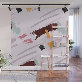 Dust pink dynamic Wall Mural
