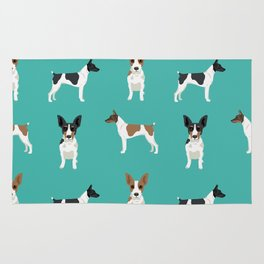 Rat Terrier dog breed pet art dog pattern gifts unique pure breed Rug