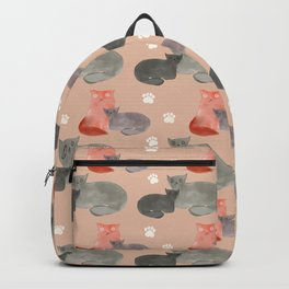 Snuggling ugly cats spring 2021 Backpack
