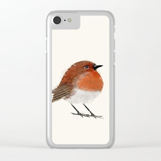 little robin Clear iPhone Case