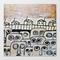 the neighbourhood Canvas Prints featuring Crowded neighbourhood by Kaelyn Saunders