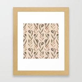 Poppy Pod Pattern Framed Art Print