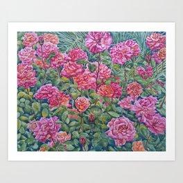 Rose Garden of Love & Hope Art Print