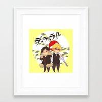 durarara Framed Art Prints featuring Drrr!! by psych0tastic