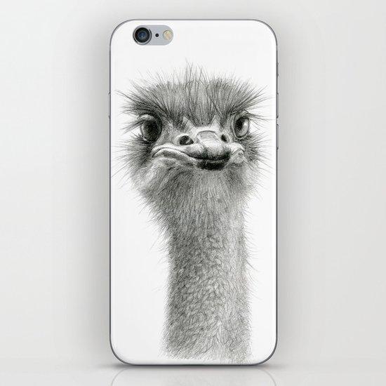 Cute Ostrich Expression SK055 iPhone Skin