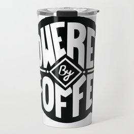 POWERED BY COFFEE Travel Mug