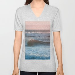 Beach Adventure Summer Waves at Sunset Unisex V-Neck