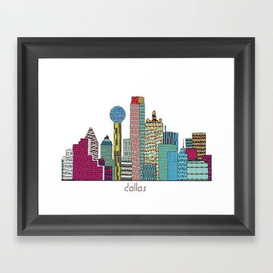 Dallas city  Framed Art Print