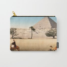 Vintage Pyramid : Grand Pyramid Gizeh Egypt 1895 Carry-All Pouch