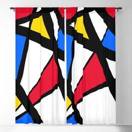 Red, Yellow, Blue Primary Abstract Blackout Curtain