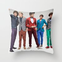 1d Throw Pillows featuring 1d by Max Jones