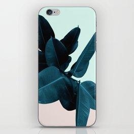 Blue Leaves iPhone Skin