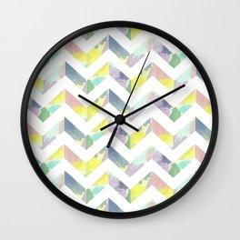 Abstract Color Chevron Wall Clock