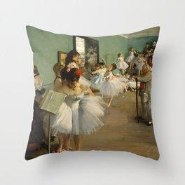 """Edgar Degas """"The dance class"""" Throw Pillow"""