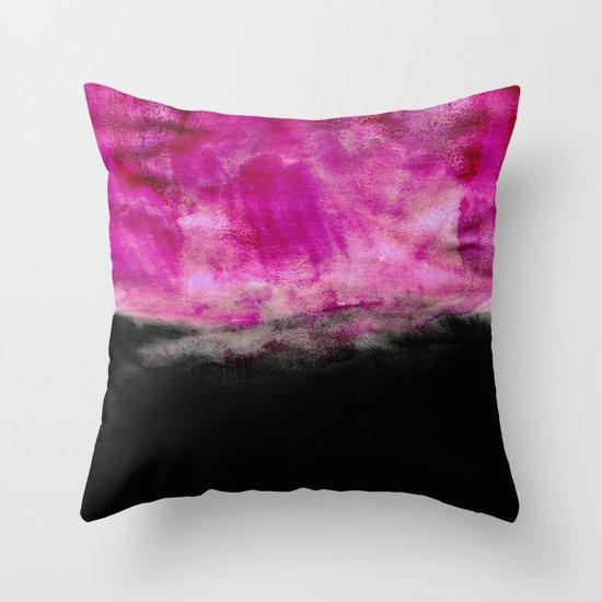 Magenta & Black Throw Pillow