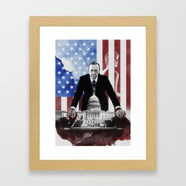 HouseofCards Framed Art Print