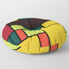 Mondrian Bauhaus Pattern #09 Floor Pillow