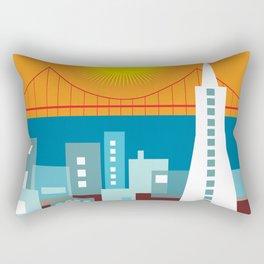 San Francisco, California - Skyline Illustration by Loose Petals Rectangular Pillow