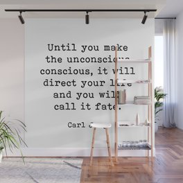 Until you make the unconscious conscious, Carl Jung Quote Wall Mural