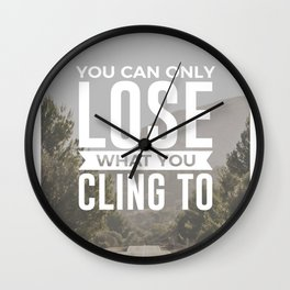 Freedom Is Letting Go Wall Clock