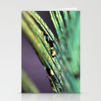 peacock feather Stationery Cards featuring Peacock feather by Falko Follert Art-FF77