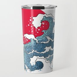 The Second Great Wave Travel Mug