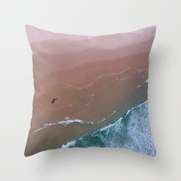 standing by the shore Throw Pillow
