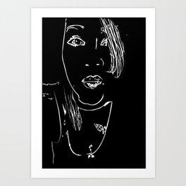 caragirl Art Print