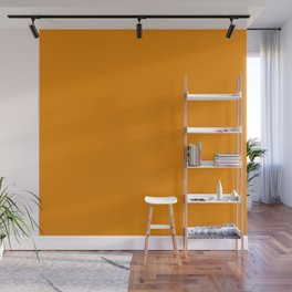Simply Tangerine Orange Wall Mural