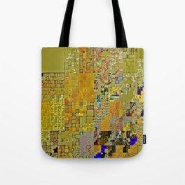pixelknitting gold Tote Bag