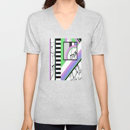 AMPS Deux - Abstract, Marble, Pastel, Stripes Unisex V-Neck