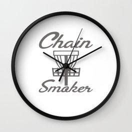 Chain Smoker Disc Golf Funny Wall Clock