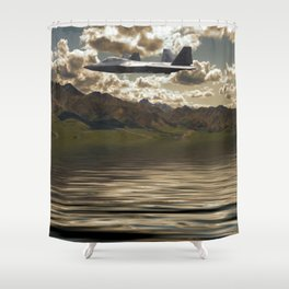 Jet Over Water Shower Curtain