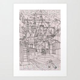 Greenwich London (Musky) Art Print