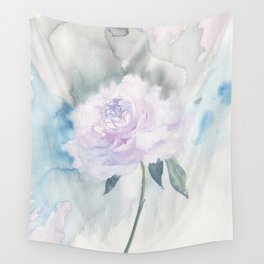 White Peony Wall Tapestry
