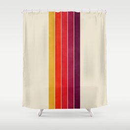 vhs video cassette retro stripes Shower Curtain