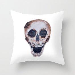 Decomposed Metallic Throw Pillow