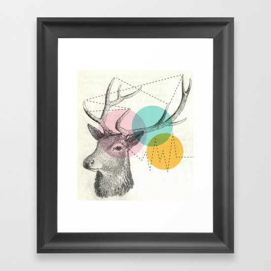 stitch doe Framed Art Print