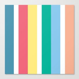 Bondi Stripe Canvas Print