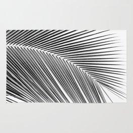 Palm leaf - bw Rug