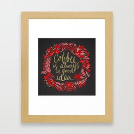 Coffee on Charcoal Framed Art Print