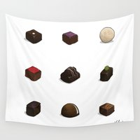 chocolate Wall Tapestries featuring Chocolate by Kirifruit