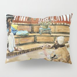 Joseph Converses With Judah, His Brother - Digital Remastered Edition Pillow Sham