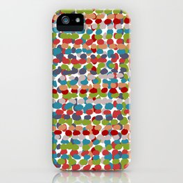 Speckled, Colorful Abstract Dot Pattern, Red, Blue, Green, Orange iPhone Case